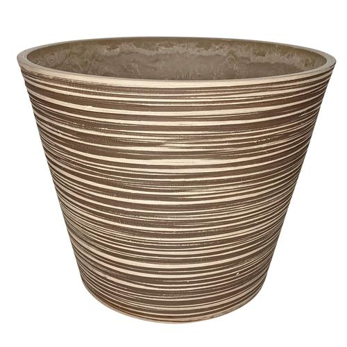 3x Blumentopf rille taupe zylinder ø 40 / H33