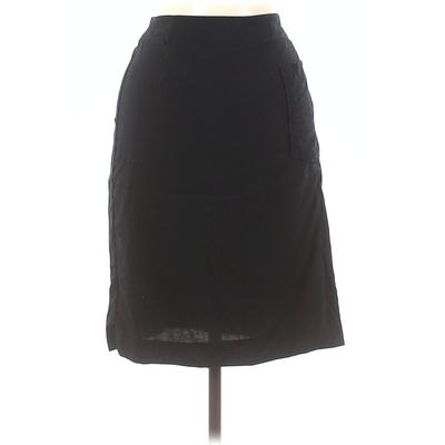 Acne Studios Wool Skirt: Black Solid Bottoms - Size 40
