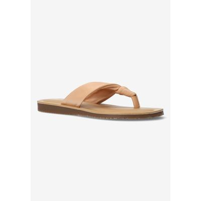 Extra Wide Width Women's Cov-Italy Sandal by Bella Vita in Natural Italian Leather (Size 8 1/2 WW)