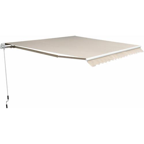 Outsunny® Markise Alu-Markise Aluminium-Gelenkarm-Markise 4,5x3m Sonnenschutz Balkon Beige