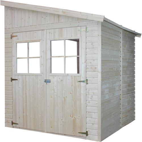 Timbela - Holz Gartenschuppen (ohne Seitenwand) MIT IMPRÄGNIERTEM BODEN - Abstellkammer mit