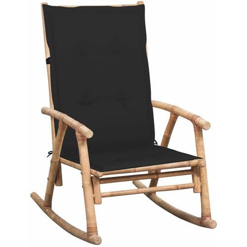 Schaukelstuhl mit Auflage Bambus