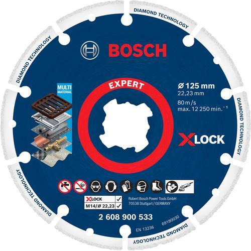 Bosch Professional Diamanttrennscheibe X-LOCK Diamant-Metallscheibe silberfarben Profi-Werkzeug Werkzeug Maschinen