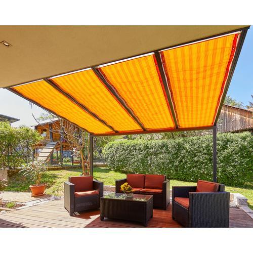 GUTTA Seilspannsonnensegel Golden Crop, BxT: 94,5x390 cm orange Sonnensegel Sonnenschirme -segel Gartenmöbel Gartendeko