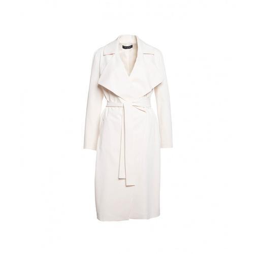 Kaos Damen Leichter Mantel mit Taillengürtel Weiß
