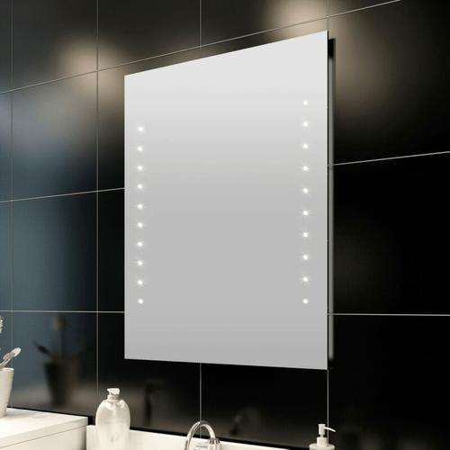 Badspiegel mit LED-Leuchten Einfacher Badezimmerspiegel 50×60 cm - Youthup