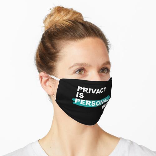 Datenschutz ist persönlich Maske