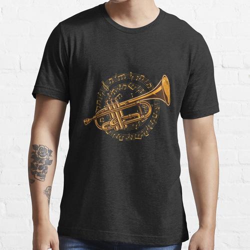 Trompete Trompeter Noten - Trompetenspieler Musiker Essential T-Shirt