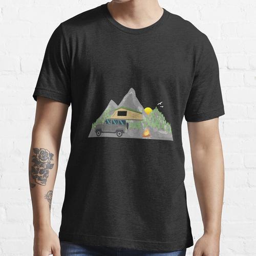 Dachzelt - Outdoor Geschenk für Camper Naturliebhaber Natur Essential T-Shirt