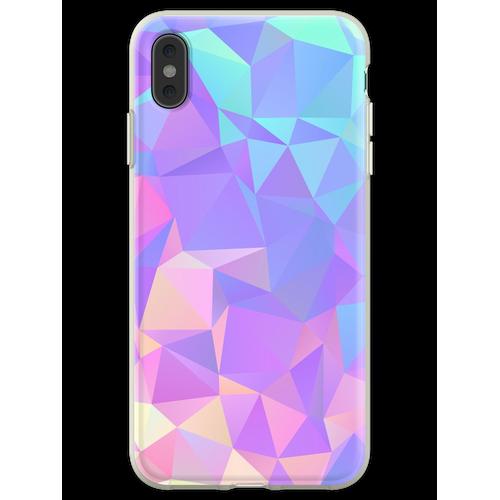 Kristallstruktur Low Poly Pattern Design Flexible Hülle für iPhone XS Max