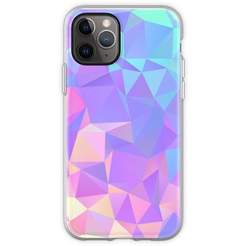 Kristallstruktur Low Poly Pattern Design Flexible Hülle für iPhone 11 Pro