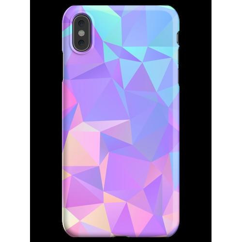 Kristallstruktur Low Poly Pattern Design iPhone XS Max Handyhülle