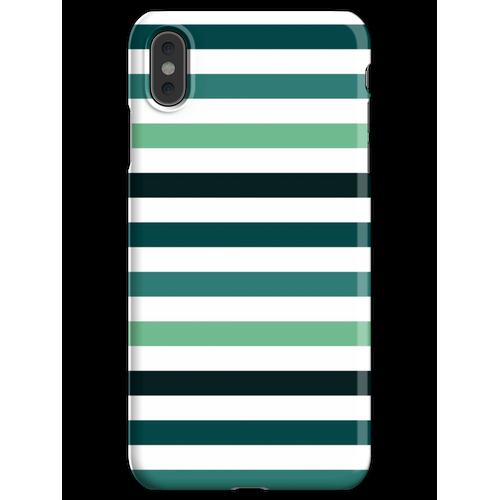 Linien - Petrolfarben iPhone XS Max Handyhülle
