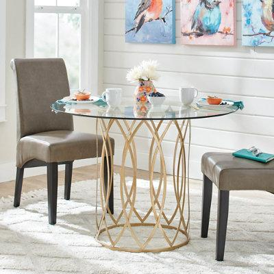 Paloma Round Dining Table - Black - Grandin Road