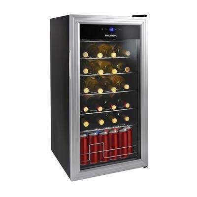 Kalorik 2-in-1 Wine and Beverage Center, Silver by Kalorik in Silver