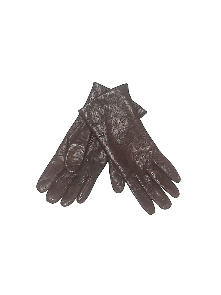 Isotoner Gloves: Brown Solid Accessories - Size Small