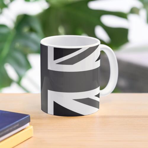 Union Jack - Black and White Mug