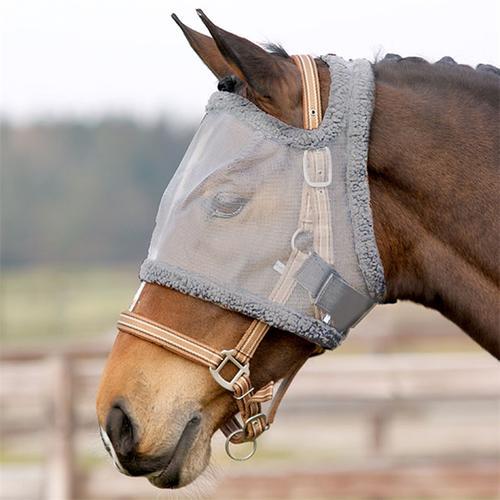 QHP Pferde und Pony Fliegenmaske ohne Ohren