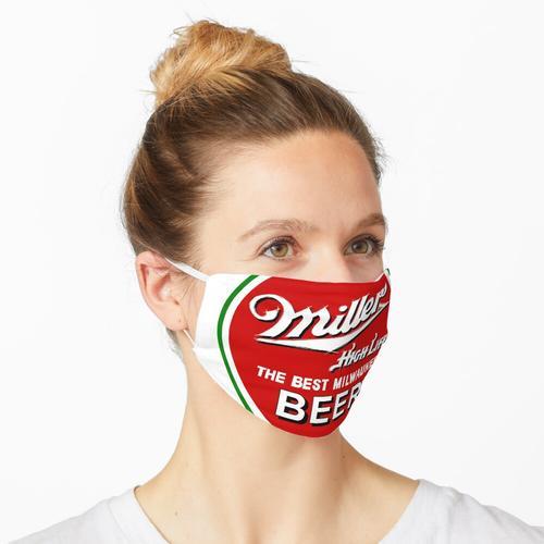 Miller High Life Runder roter und grüner Kreis Maske