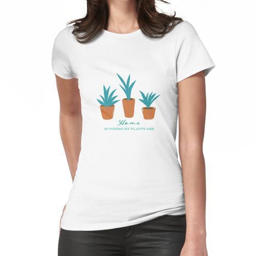 Grüne Topfpflanzen Frauen T-Shirt