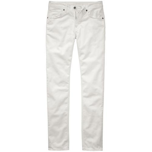 Baldessarini Herren Jeans-Hose Slim Fit Weiss einfarbig