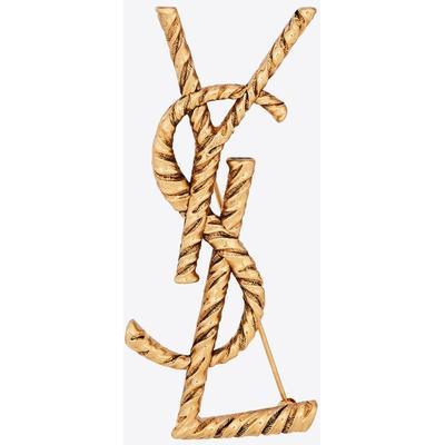 Saint Laurent Opyum broche ysl torsadée en métal