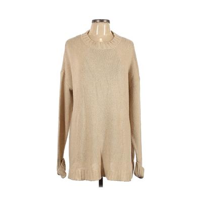 Show Me Your Mumu Pullover Sweater: Ivory Solid Tops - Size Large