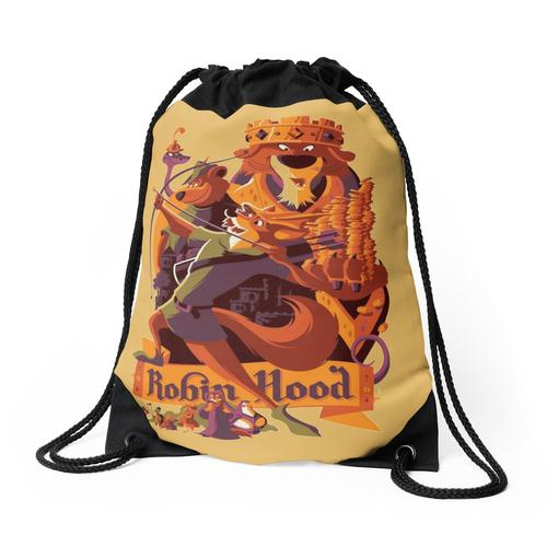 Robin Hood Cartoon Merch Rucksackbeutel