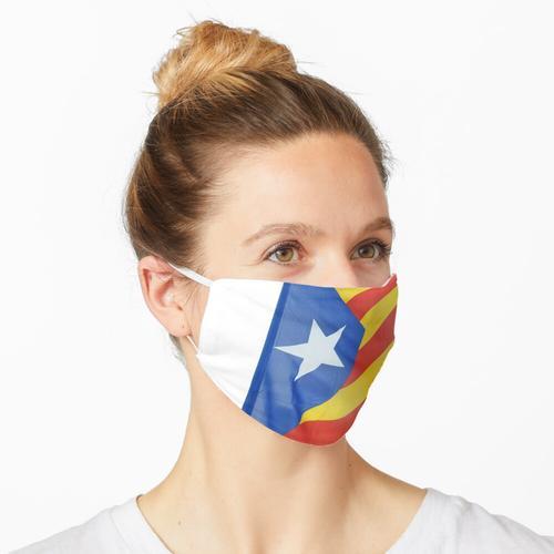Katalanische Flagge Maske