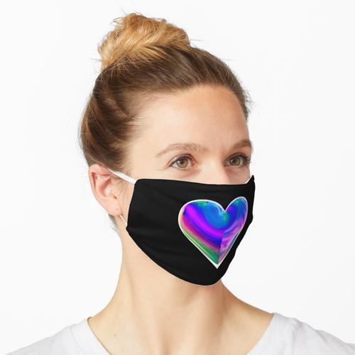 Ölteppich Herz Maske