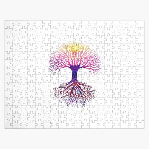 COLORFUL EDITION TREE ROOT DESIGN Puzzle