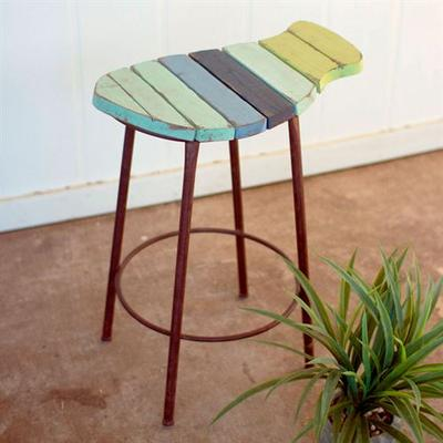 Coastal Fish Counter Stool Multi Cool , Multi Cool