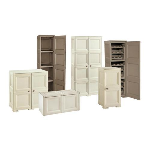 Möbel: Schrank 4 Module + 4 Einlegeböden + 4 Fächer / Schokoladenbraun