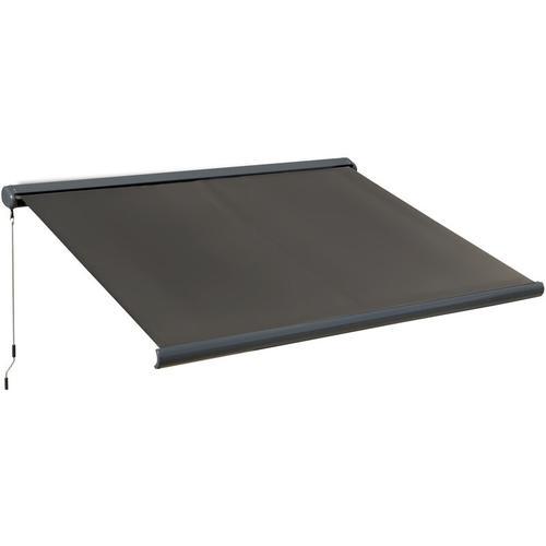 Outsunny® Elektrische Markise mit Handkurbel Gelenkarmmarkise Sonnenschutz Balkon 3x2,5m