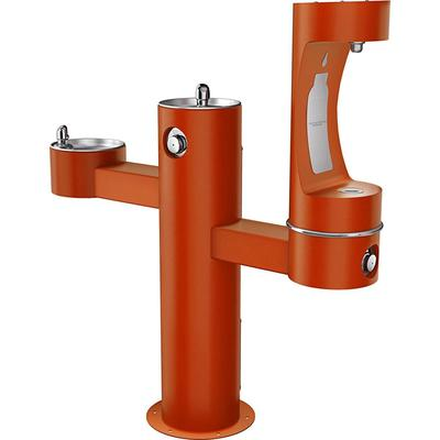 """Elkay 4430BF1LTER Outdoor Bottle Filling Station w/ (2) Drinking Fountains - 52 1/8""""H, Non Refrigerated, Terracotta"""