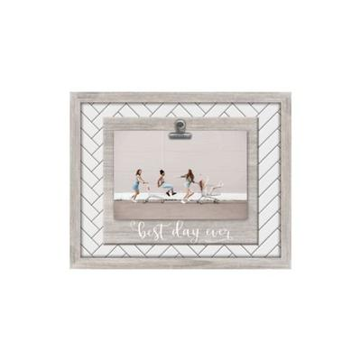 New View Grey Best Day Ever Clip Frame