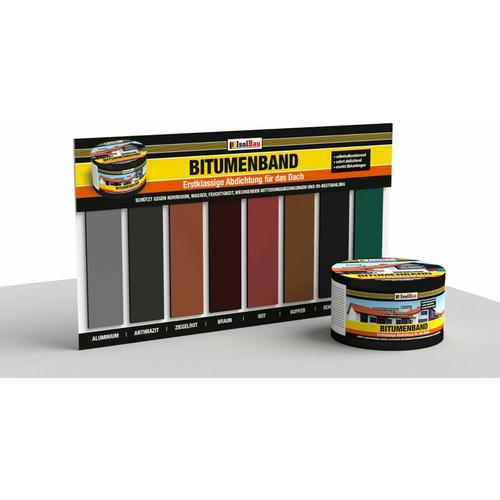 Bitumenband 10m Abdichtband selbstklebendes Reparaturband Dichtband Klebeband Breite: 75mm Farbe: