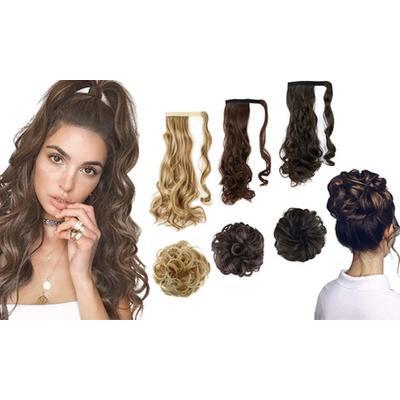 Hair Extensions: Two-Bun/Blond Mix