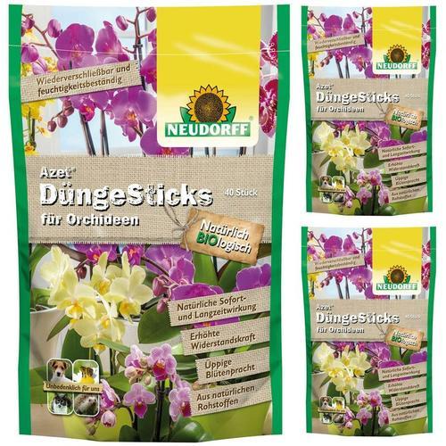 3 x 40 (120 Stk) Azet DüngeSticks für Orchideen NPK-Dünger 8-2-5 - Neudorff