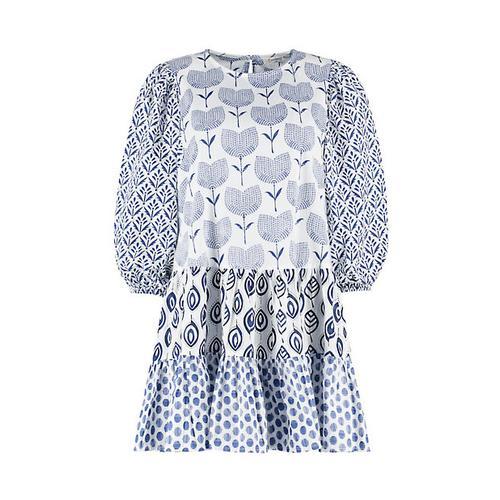 Deerberg Damen Tunika Hanja nachthimmel-weiß Bluse