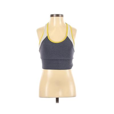 HEROINE SPORT Sports Bra: Blue Color Block Activewear - Size X-Small