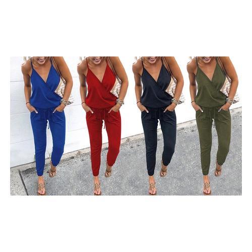 Sommerlicher Damen-Anzug: Rot / Größe XL