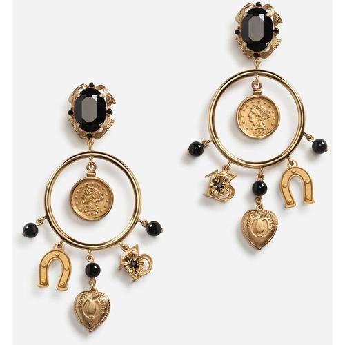 Dolce & Gabbana Goldfarbene Ohrclips Mit Kristallen
