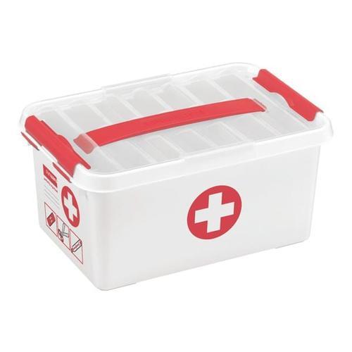 Aufbewahrungsbox »First Aid« 6 Liter weiß, sunware, 30x14.5x20 cm