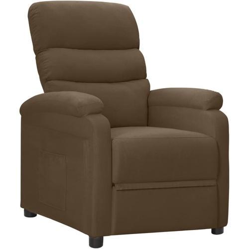 Relaxsessel Stoff Braun