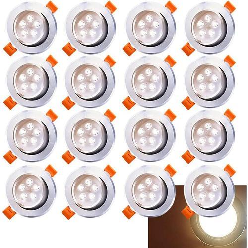 LED Einbaustrahler 20x 5W Warmweiß 3200K LED Deckenstrahler Schwenkbar Einbauleuchte 420lm