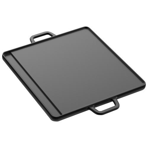 Tepro Grillplatte, Gusseisen, Universal, 30x30 cm schwarz Zubehör für Grills Garten Balkon Grillplatte
