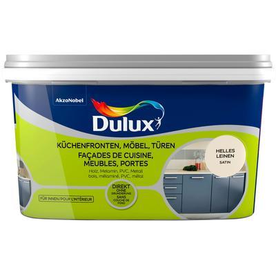 Dulux Holzlack Fresh Up, für Küchen, Möbel und Türen, hell leinen, 2 l beige Lacke Farben Bauen Renovieren