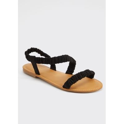 Rue21 Womens Black Ruched Sandals - Size 6