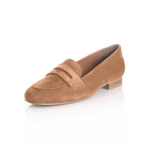 Alba Moda, Slipper mit hochgezogener Lasche, braun